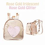 Heart Backpack - Rose Gold .