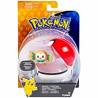 Rowlet & Poke Ball - Clip 'N Carry