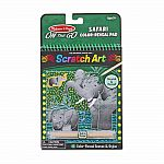 Safari - On The Go Scratch Art Color-Reveal Pad
