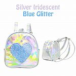 Heart Backpack - Silver