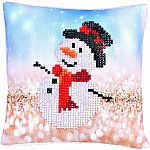 Diamond Dotz - Snowman Top Hat Mini Pillow