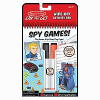 Spy Games! Wipe-Off Activity Pad