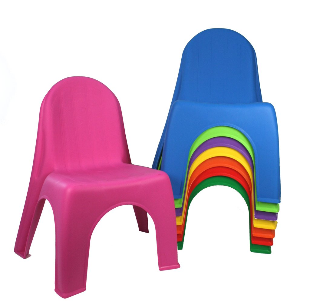 Kids Stacking Chair Assorted Colours Toy Sense
