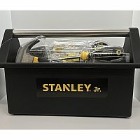 Stanley Jr. Open Tool Box and 5 tools