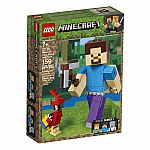 Minecraft Steve BigFig with Parrot