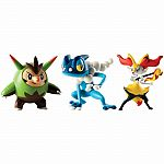 3 Pack of Pokemon - Quilladin, Braixen & Frogadier
