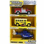 Tonka Toughest Minis Lights & Sounds - 3 Pack