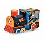 Train Puzzle + Play Set