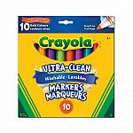 10 Ultra-Clean Washable Broad Bold Line Markers