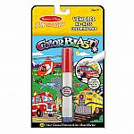 Colorblast Vehicles  -  On The Go Coloring Pad