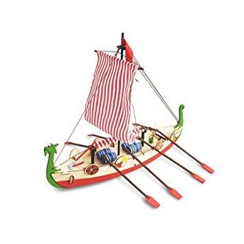 My First Wooden Kit Drakkar Viking Boat Toy Sense