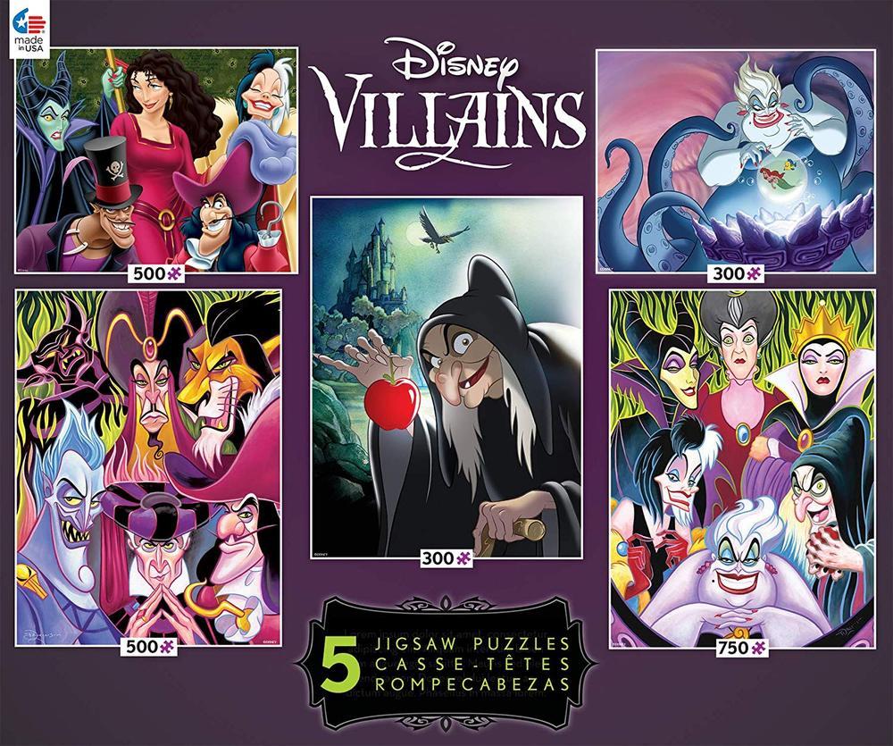 Disney Villains 5-in-1 Multipack Jigsaw Puzzle Set - Ceaco - Toy Sense