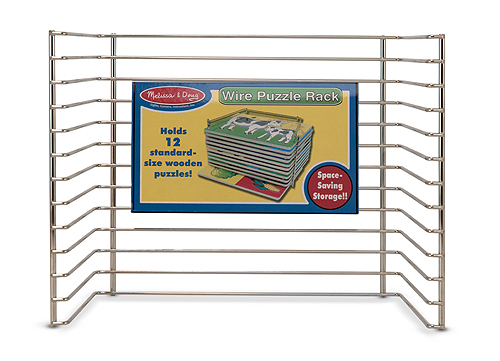 Chunky Puzzle Rack ~ Single wire puzzle rack toy sense