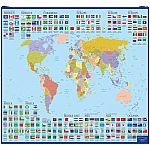Wonders of Learning Educational Wall Chart - Discover World Map & Flags