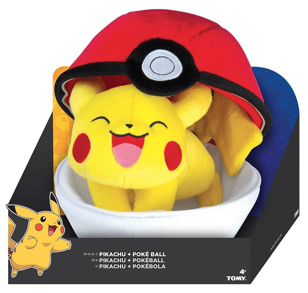 zipper poke ball pikachu plush toy sense